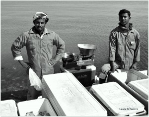 Pescadores en Al Corniche