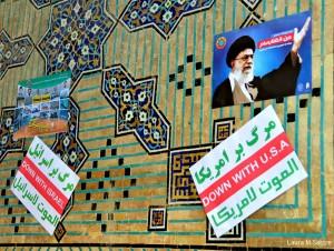 Propaganda en las calles de Isfahán