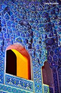 Detalle de una mezquita en la ciudad de Yadz.