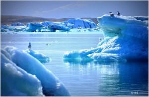 Lago-glaciar Jökulsárlón, Islandia.