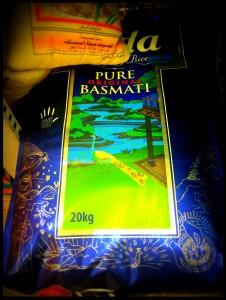 Saco de arroz Basmati 20kg