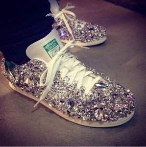 shoes-sneakers-adidas-stan+smith-blinged-rhinestones-diamonds