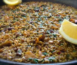 Una deliciosa paella en el restaurante S'assecador (Portocristo-Mallorca)