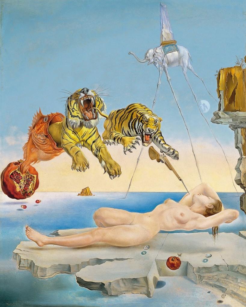 Sueño causado por el vuelo de una abeja alrededor de una granada un segundo antes de despertar, (Salvador Dalí 1944) o mis sueño agitado fruto del jet lag.