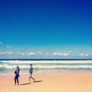 La famosa Bondi Beach (playa urbana)