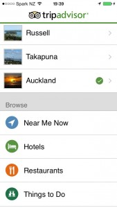 App móvil TripAdvisor