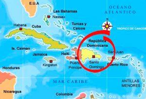 Mapa República Dominicana-Caribe