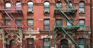 Fachadas típicas de Manhattan