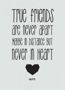 A veces los tópicos dicen verdades como puños, es más, en la distancia he reconocido a mis verdaderos amigos.
