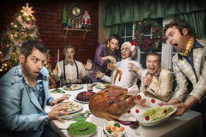 La cena de Nochebuena no siempre es de postal