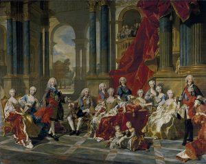 La familia de Felipe V, Van Loo (Museo del Prado)