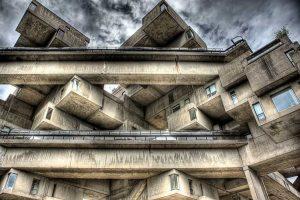 Imagen de la arquitectura de los edificios residenciales de 1967