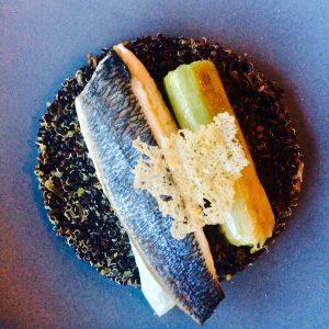 La Daurade_Sea Bream Filet Seared on skin, Patatoes scales leeks with lemon peel