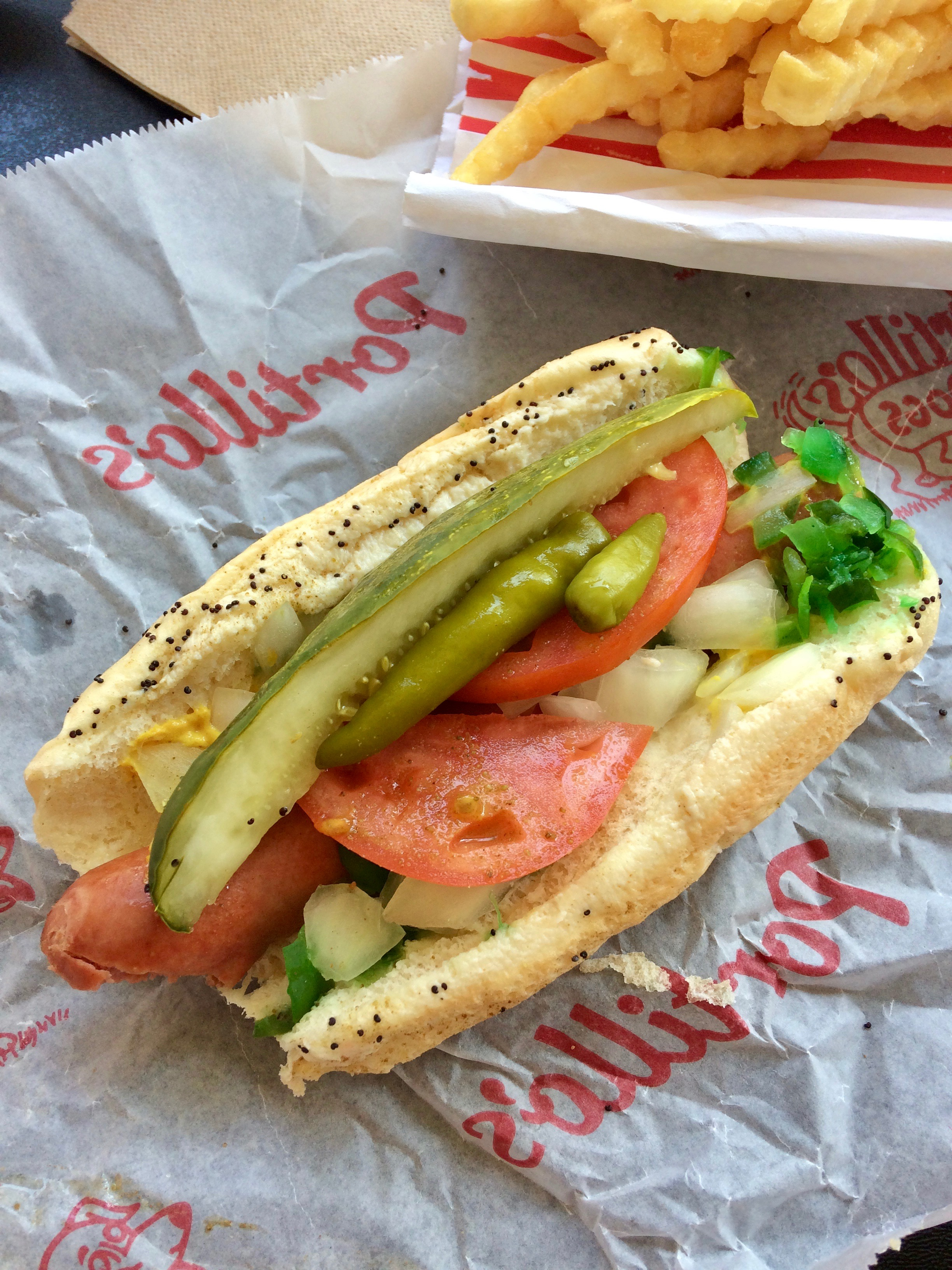 Hot Dog en Portillo's
