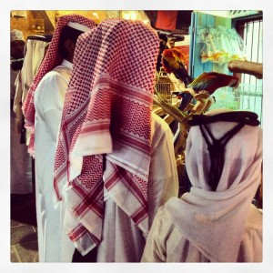 Locales en el Souq Waqif.