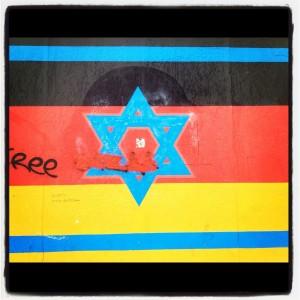 Imagen tomada en el muro de Berlín.