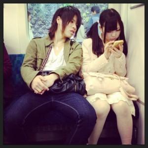 Estampa típica en el metro de Tokyo