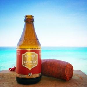 Cerveza belga y sobrasada mallorquina