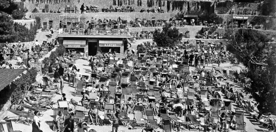 Playa de Illetes en los años sesenta