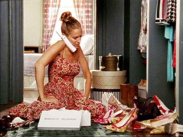 "Armario de Carrie Bradshaw en mi serie fetiche favorita ""Sex and the city"""