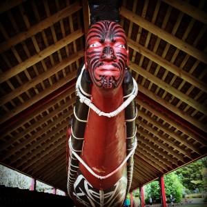 Canoa de guerra ceremonial maori (Waitangi - New Zealand)