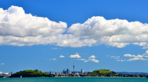 Panorámica de Auckland desde Rangitoto Island