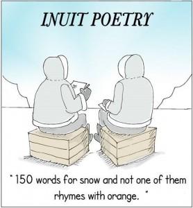 """Sentido del humor Inuit: """"150 palabras para nieve y ninguna rima con naranja"""""""