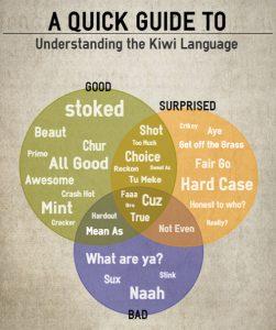 Guía rápida para entender el idioma kiwi