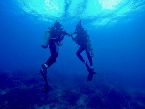 Buceo en Isla Catalina con David y Ariadna