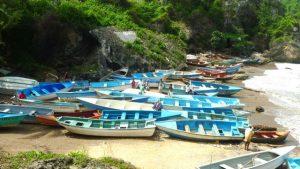 Boca de Yuma, botes de pescadores.
