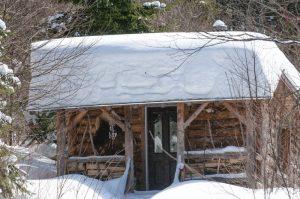 Refugio en Val-des-Lacs (en invierno)