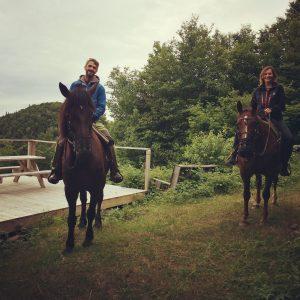 Paseo a caballo en Val-des-Lacs (imagen propia)