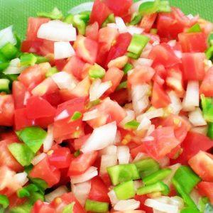 Típica ensalada veraniega de trempó