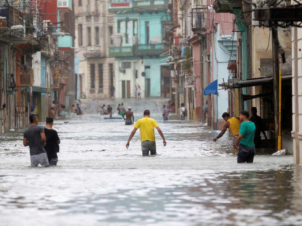 Inundaciones en La Habana tras el huracán Irma