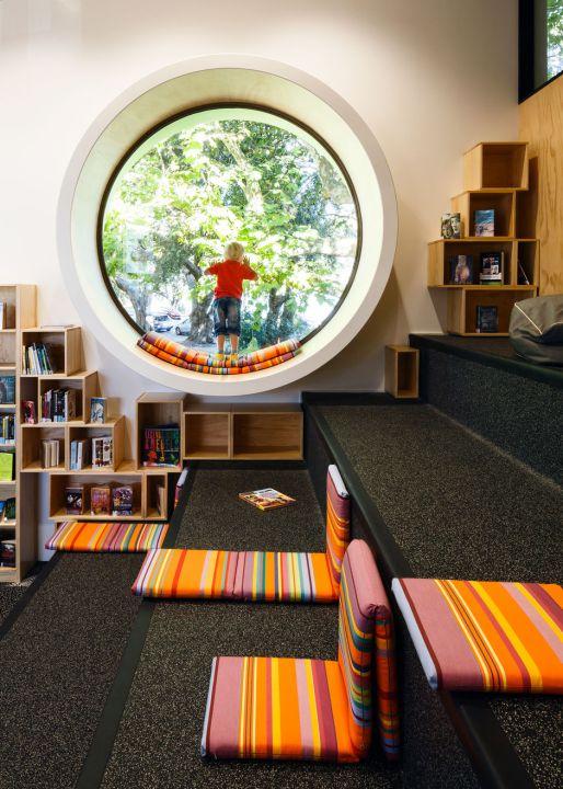Biblioteca de mi barrio en Nueva Zelanda, Devonport.