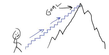 Las montañas no se escalan de un salto, mejor dar pasos firmes y seguros