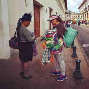Vendedoras ambulantes (imagen propia)