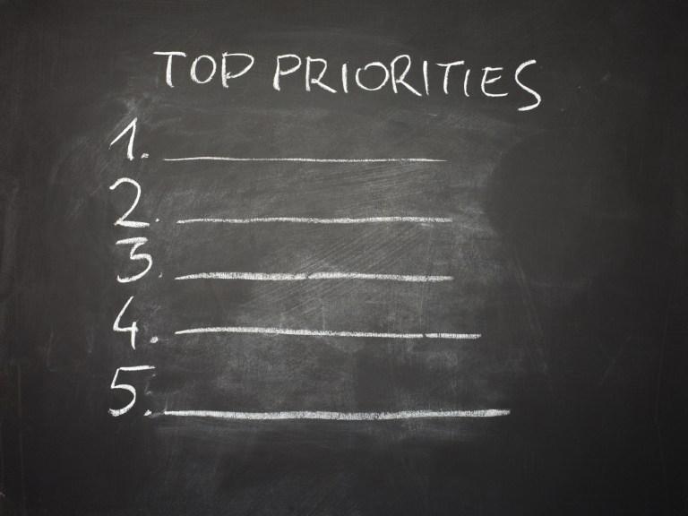 Antes de pasar a la acción establece tus prioridades