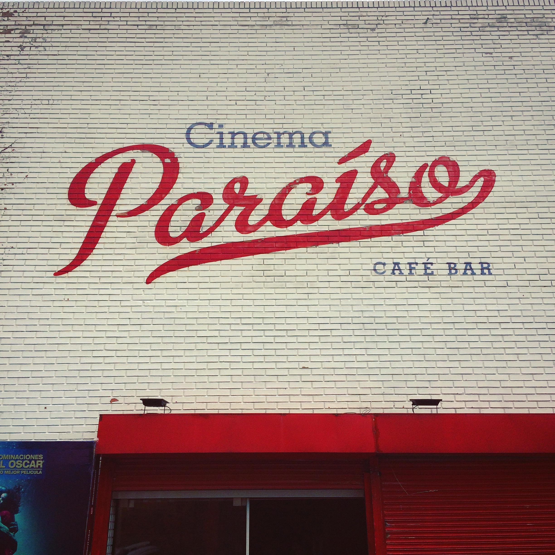 Cinema Paraíso en el barrio de Usaquén, Bogotá (Colombia)